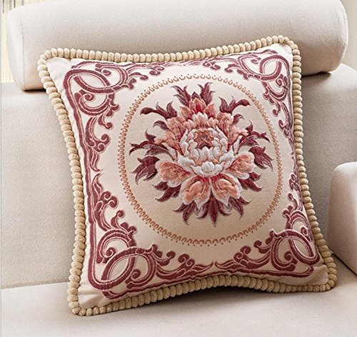 Embroidery Decorative Pillow - 1