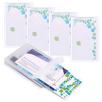 Hipiwe 5 Packungen Kunststoff Visitenkartenhalter