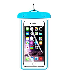 [1Pack] Blue Universal Waterproof Case, CaseHQ CellPhone Dry Bag Pouch for Apple iPhone 8,8plus,7,7plus,6s 6,6S Plus,7 SE 5S, Samsung Galaxy S7, S6 Note 5 4, LG Sony Nokia Motorola up to 5.8 diagonal