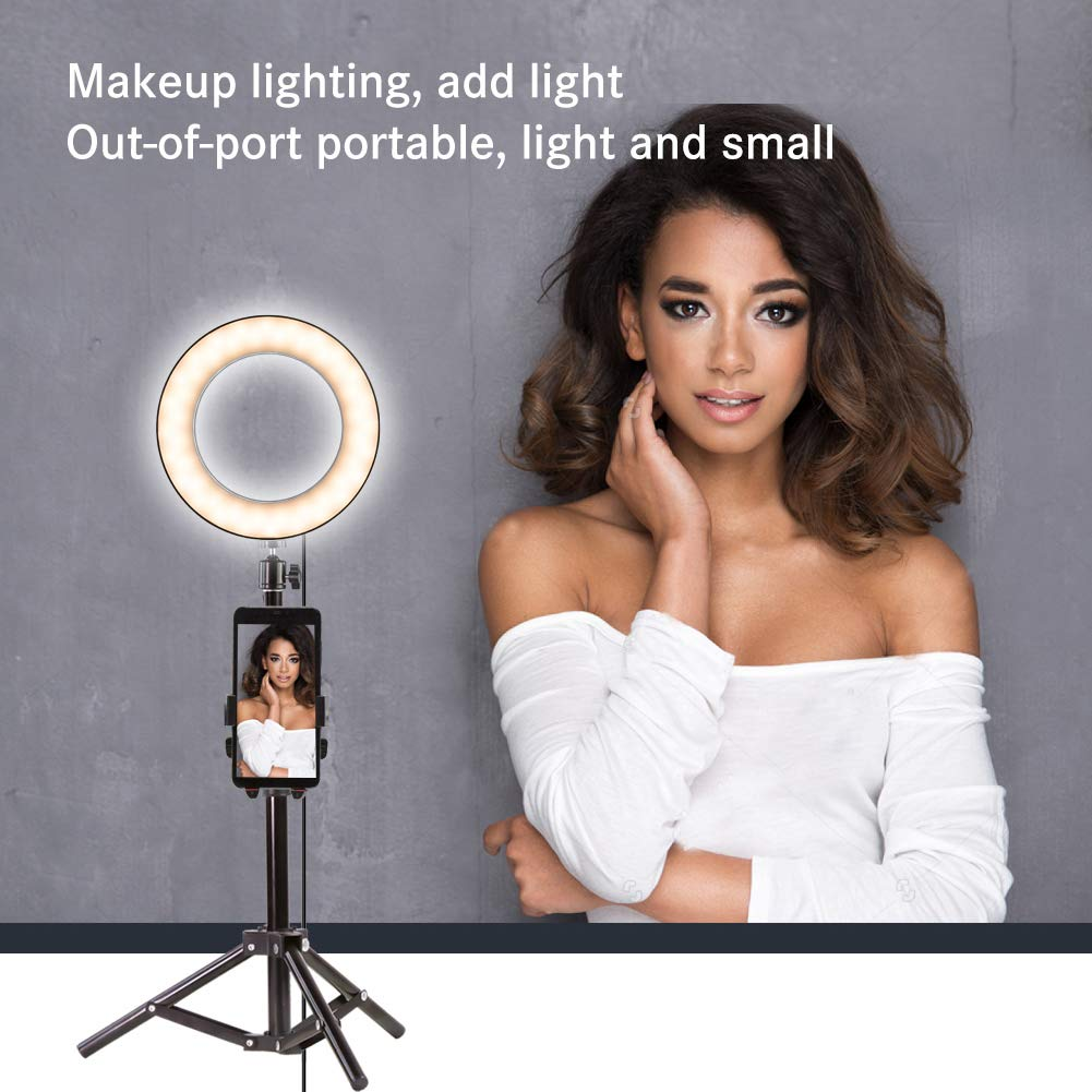 Nugilla 8 Upgraded Led Ring Light with Tripod Stand /& Cell Phone Holder for Live Stream//Makeup,Led Selfie Ring Light for YouTube Video//Photography Compatible with iPhone Xs Max XR Android