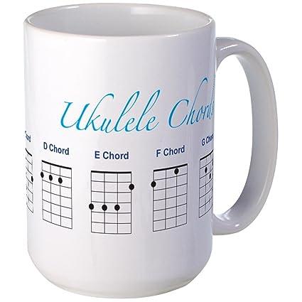 Amazon Cafepress Ukulele 7 Chords Large Mug Coffee Mug