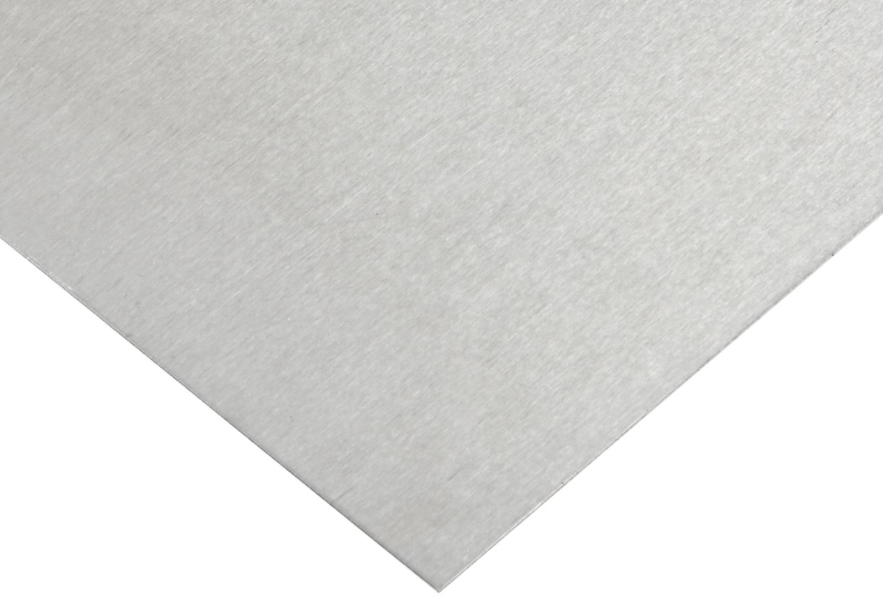 2024 Aluminum Sheet, Unpolished (Mill) Finish, T3 Temper, AMS QQ-A-250/4/ASTM B209/AMS 4037, 0.08' Thickness, 36' Width, 36' Length 0.08 Thickness 36 Width 36 Length Small Parts Inc 88796