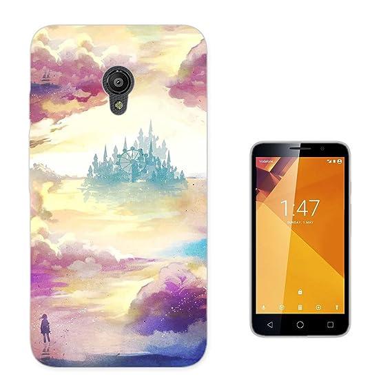 003804 - Fantasy Distant World Utopia Design Vodafone Smart Turbo 7 Fashion Trend CASE Gel Rubber