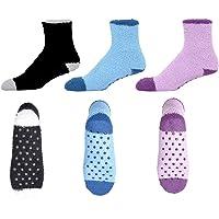 3-Pack of Hospital Socks for Women - Non Skid/Anti Slip Slipper Socks for Women