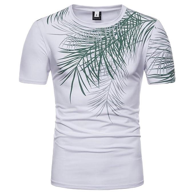 Camiseta para Hombre, Camiseta de Manga Corta con Cuello en V de Manga Corta con