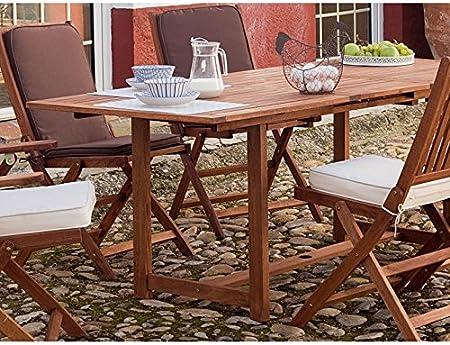 Mesa rectangular extensible para jardín modelo Roma 1550 ...