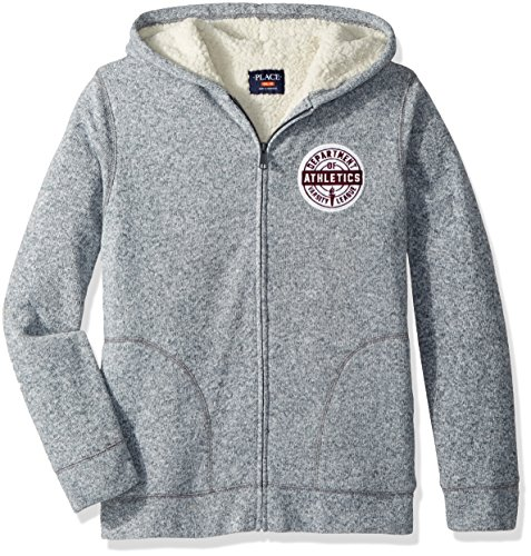 - The Children's Place Big Boys' Fleece Sherpa Sweater, Graystone 88150, L (10/12)