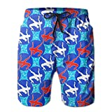 USA Wrestling Logo Long Mens Boardshorts Swim Trunks Tropical Beach Board Shorts Surf Trunks