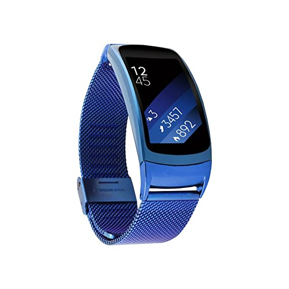 Gear Fit2 Band Pinhen Gear Fit2 Mesh Milanese Magnetic Loop Stainless Steel Bracelet Strap Replacement Band Wristband for Samsung Gear Fit 2 SM-R360 ...
