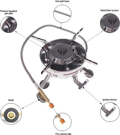Anself BRS-10 Cocina de gas Estufa Hornillo de gas de acero ...
