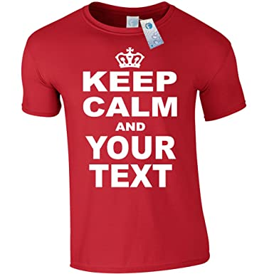 79d09d7e5 KIDS PERSONALISED KEEP CALM T SHIRTS ( Red ) New Child Boy Girl Youth  Junior Premium Soft Style ...
