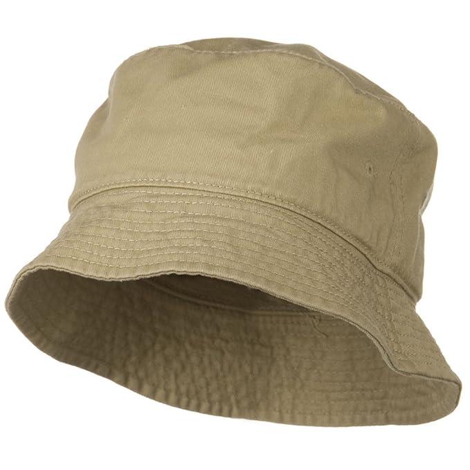 6801c093 Garment Washed Cotton Twill Bucket Hat - Khaki L