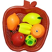 JAY ANTIQUES Fruit Basket Chu Chu Set for Toddler Babies Kids Sweet Cuddle Colorful 6 Pcs Set Non Toxic