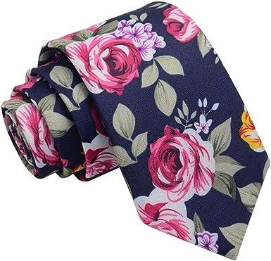 JUNGEN Corbata de Hombre Corbata de Estampada de Flores Vintage ...