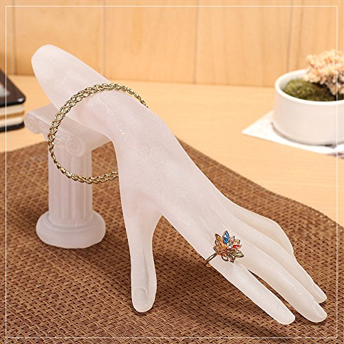 Funnuf Resin Hand Model Display Jewelry Rack Holder for Bracelet Ring, Frosted White by Funnuf (Image #1)