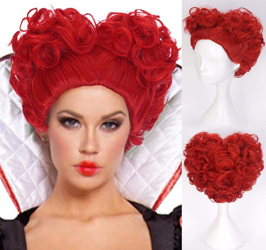 Alice In Wonderland 2 Red Queen Cosplay Wig Queen Of Hearts Red Heat Resistant Synthetic Hair Costume Halloween Wigs Amazon Ca Home Kitchen