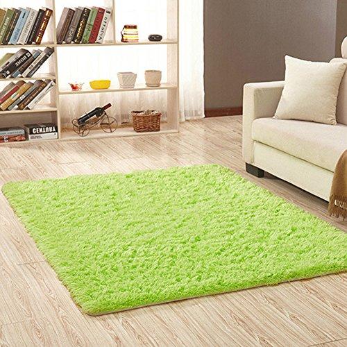 Alfombra rectangular para interior de la marca angju para salón, recámara, decoración del hogar, 120 x 80 cm, Verde (Fruit...