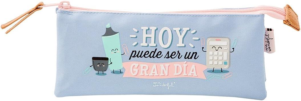 Mr.Wonderful Estuche Triple Hoy Puede Ser Un Gran Día, Color Lila: Amazon.es: Equipaje