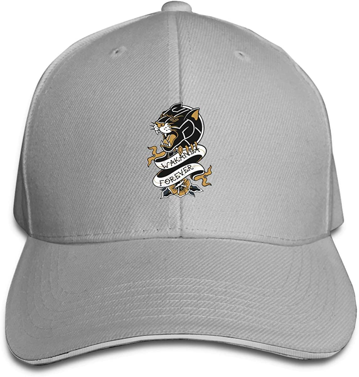 Wakanda Forever Classic Adjustable Cotton Baseball Caps Trucker Driver Hat Outdoor Cap Gray