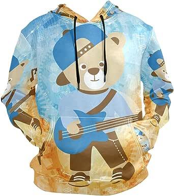 Betty Doddedf Unisex 3D Print Ski-llet Guitar Hooded with Pocket Sweatshirt for Boys//Girls//Teen//Kid
