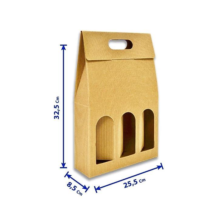 Unidades 5 - Caja botellero de vino - 3 Botellas: Amazon.es: Bricolaje y herramientas