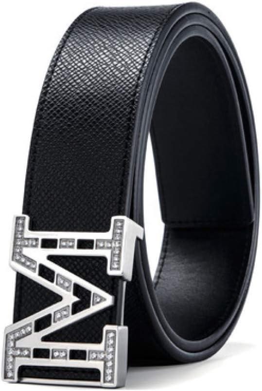 DENGDAI Mens Belt Leather Belt Mens Belt Length 105-125cm