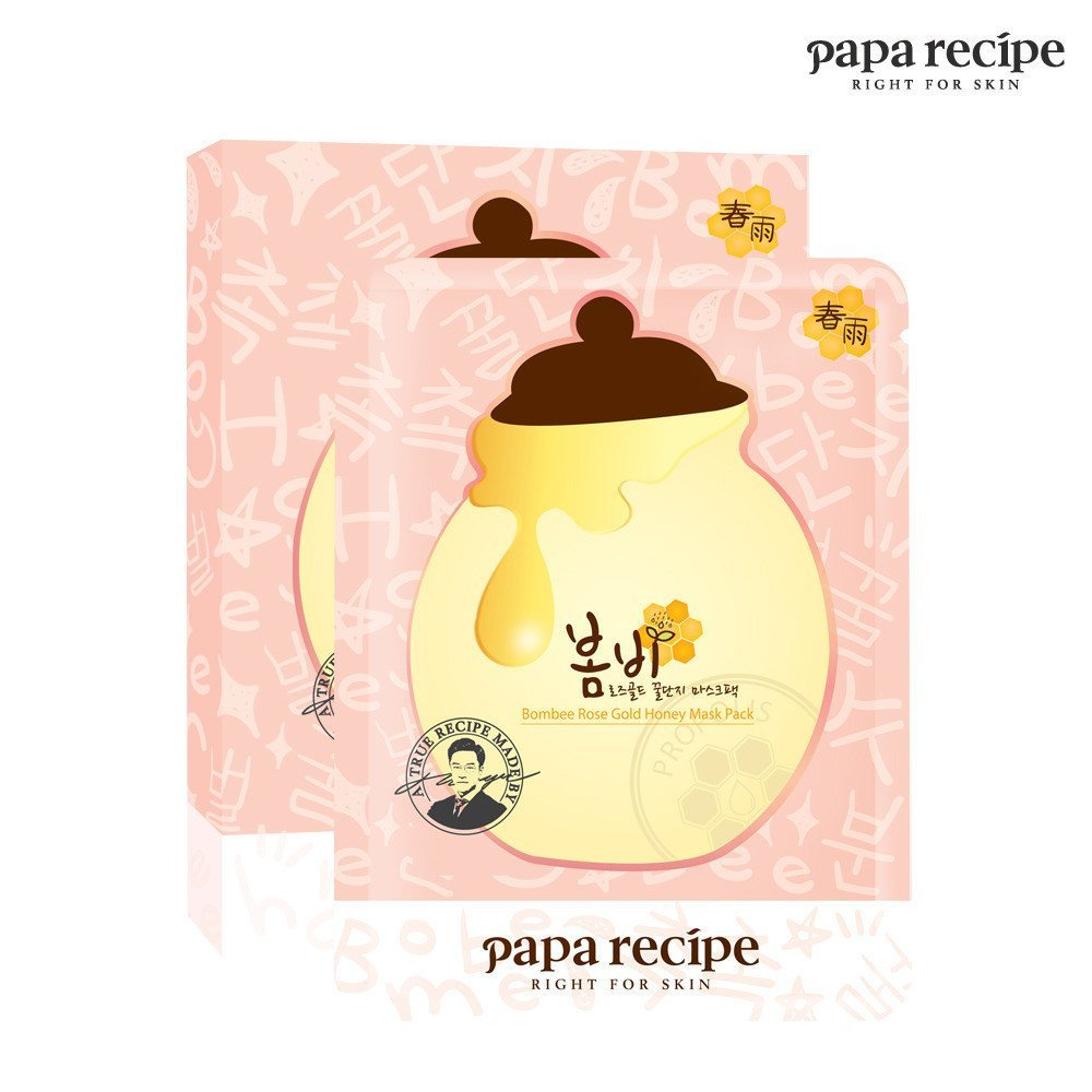 Papa Recipe Bombee Rose Gold Honey Mask Pack 5 Masks 25 ml Each by Papa Recipe