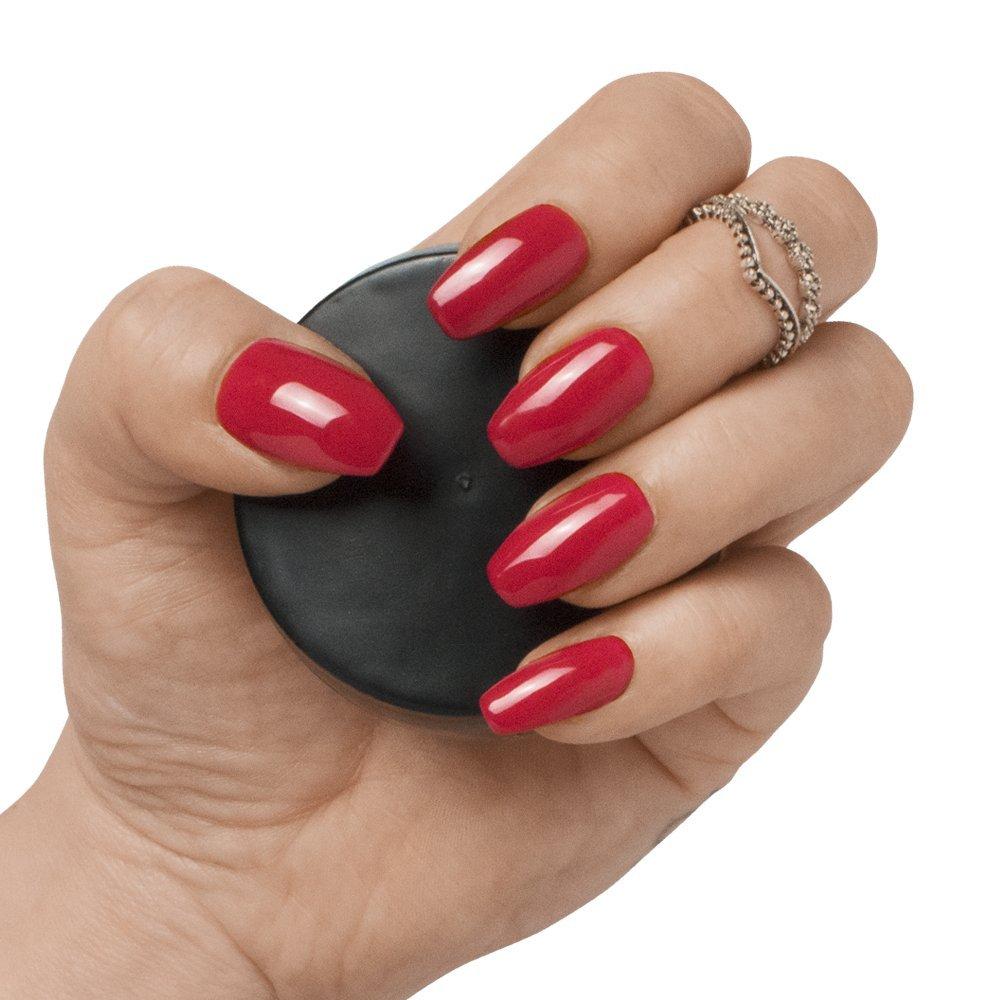 50, 100 o 500 piezas de uñas postizas cortas de coffin/bailarina, 10 tamaños, cubierta completa de uñas opacas para salones de uñas y arte de uñas DIY ...