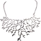 Jane Stone Fashion Costume Jewelry Tree Branch Necklace Choker Collar Necklaces for Women(Fn0738)