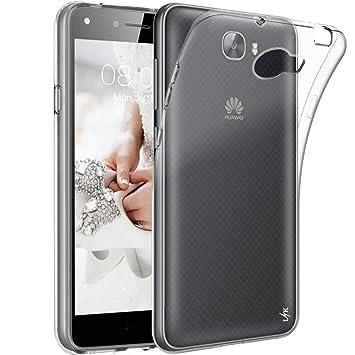 LK Huawei Y6 II Compact/Huawei Y5 II Funda, Carcasa Cubierta TPU Silicona Goma Suave Case Cover Ultra Fino Anti-Arañazos - Clara