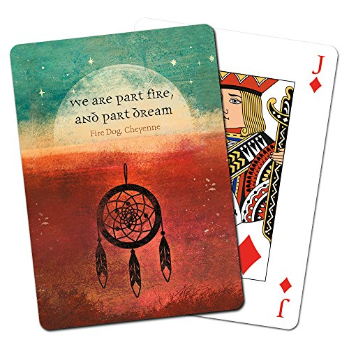 Price comparison product image Tree-Free Greetings Deck of Playing Cards, 2.5 x 0.8 x 3.5 Inches, Part Fire  (CD49628)