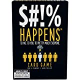 """Games Adults Play $#!% Happens - The Rank Unfortunate Situations on The Misery Index Adult Card Game, Black, 5"""""""