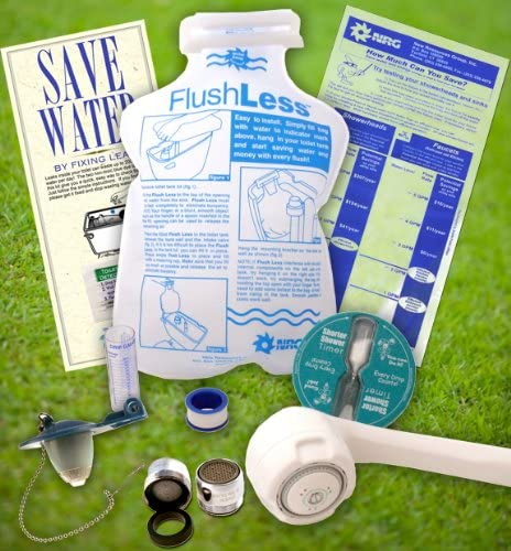 NRGideas Premium Bathroom Water Saving Eco-Kit, faucet, toilet, hand held shower head water conservation