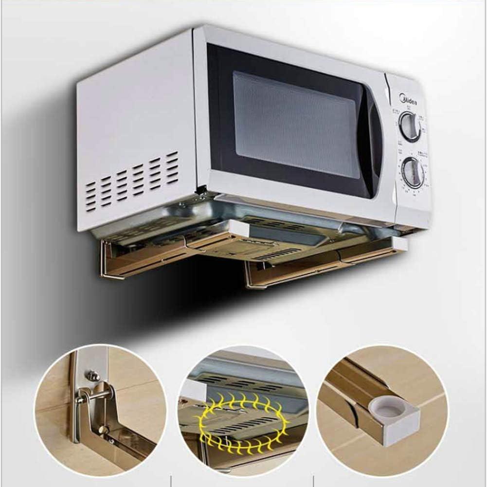 JND Microondas Digitales Horno Microondas Soporte de Montaje en Pared estantes de Montaje Estiramiento Titular Extensible Horno de microondas Manual