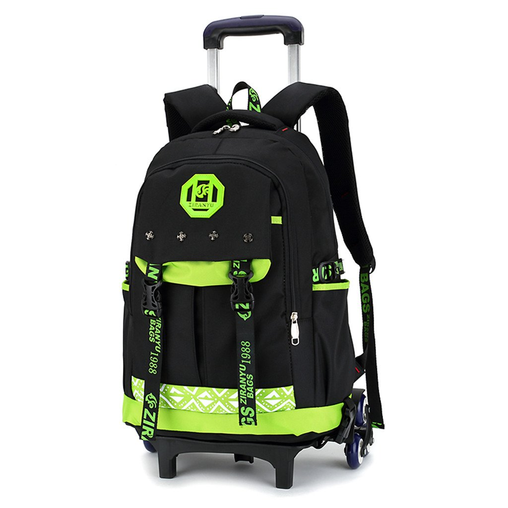 Garçon Trolley Bag Cadeaux Rentrée Scolaire Sac à Dos avec Roulettes Cartable Roulette Bagages Voyage 2 Roues primaire Sac a dos enfant