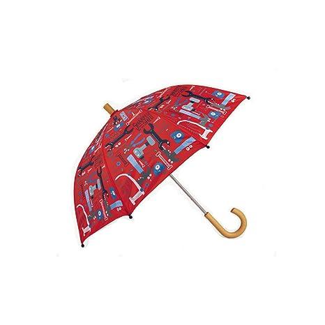 Paraguas Herramientas de Color Rojo Hatley (Rojo)