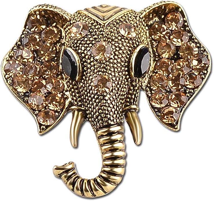 Gold Tone Elephant Pin Metal Brooch Pin African Safari Animal Vintage Estate Jewelry Tribal Vintage Estate Christmas Gift Ideas Scarf