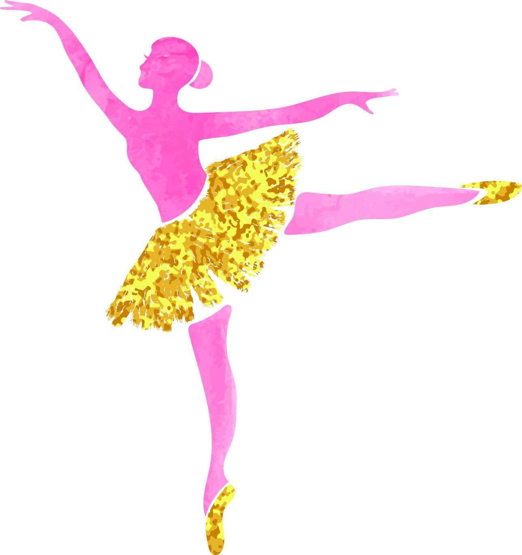 Amazon Com Pretty Pink Gold Ballerina Dancer Cartoon Silhouette Vinyl Sticker 2 Tall Arabesque Automotive