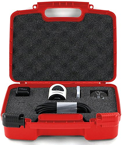 Life Made Better Storage Organizer - Compatible with Mevo Camera Live Event And Accessories- Durable Carrying Case - Red