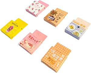 Kawaii Paper Sticker Set (6 Box, 276 Pieces) Delicious Food Cake Bread Fruit Coffee Drink Stationery Stickers Adhesive Decoretive Label for Scrapbooking Art Project Diary Planner Journal Gift Packing