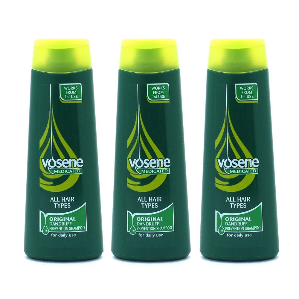 Vosene Medicated Shampoo Dandruff Protection 250ml - Pack of 3