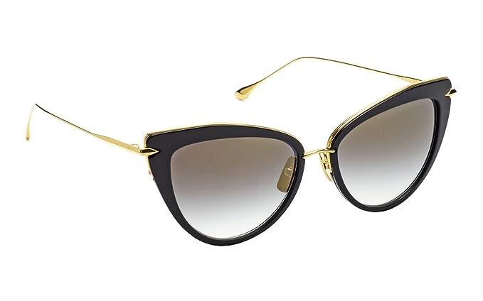 97e200d5b0a50 Dita Heartbreaker Gafas de sol para mujer en montura dorada y negra con  lente Gris oscuro  Amazon.es  Ropa y accesorios