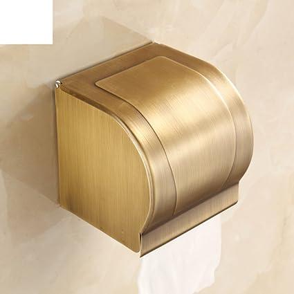 Caja para pañuelos/baño/bandeja de mano antigua bandeja de acero inoxidable/oro