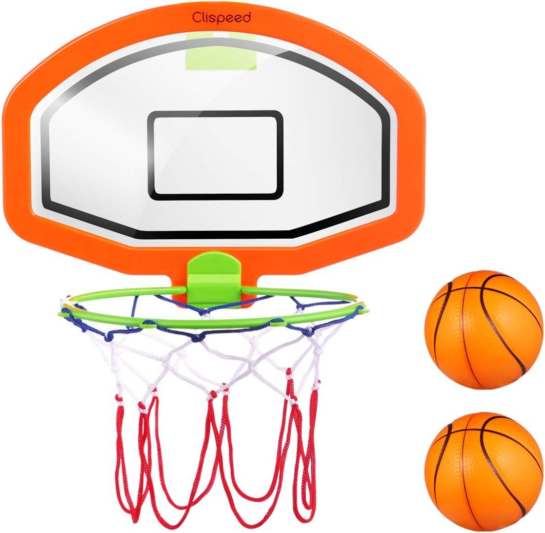 CLISPEED Kids Basketball Hoop Set Portable Wall Mounted Backboard Basketball Net Basketball Hoop Educational Indoor Toy