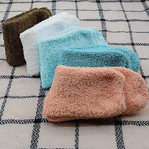 Century Socks Fluffy Slipper Microfiber Slipper Sleeping Socks Plush Pairs Socks Womens Solid Star 02 Home Thick 5 Color Warm Crew Winter rqwvSr