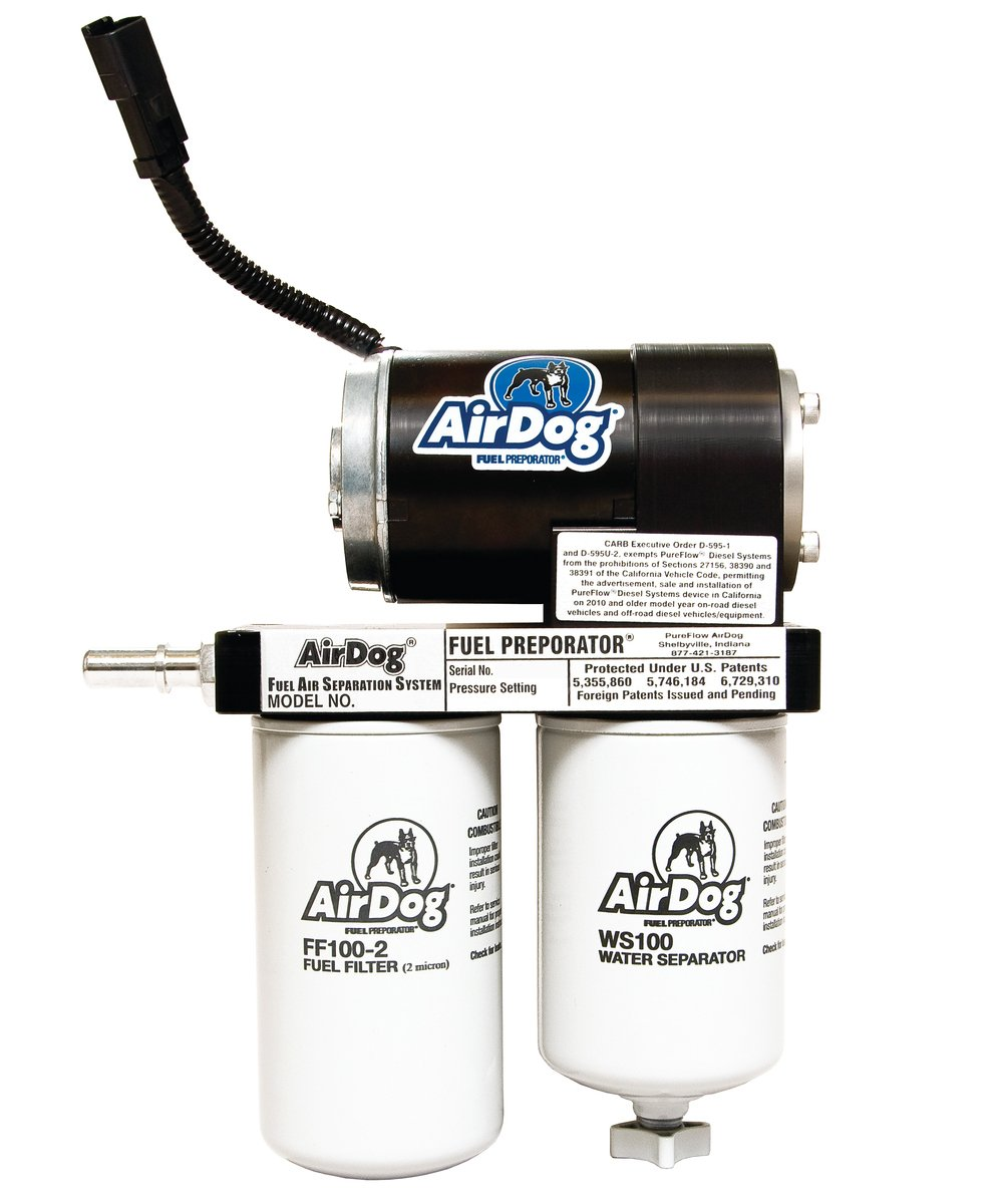 Amazon.com: AirDog 150 Gallons Per Hour (GPH) Flow Rate For 2001-2010  Chevrolet/GM Duramax Diesel With LB7, LLY, LBZ, & LMM Engines Preset At  8psi Single ...