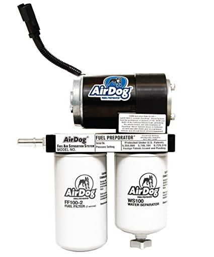AirDog 150 Gallons Per Hour (GPH) Flow Rate For 2001-2010 Chevrolet/GM  Duramax Diesel With LB7, LLY, LBZ, & LMM Engines Preset At 8psi Single  Piece