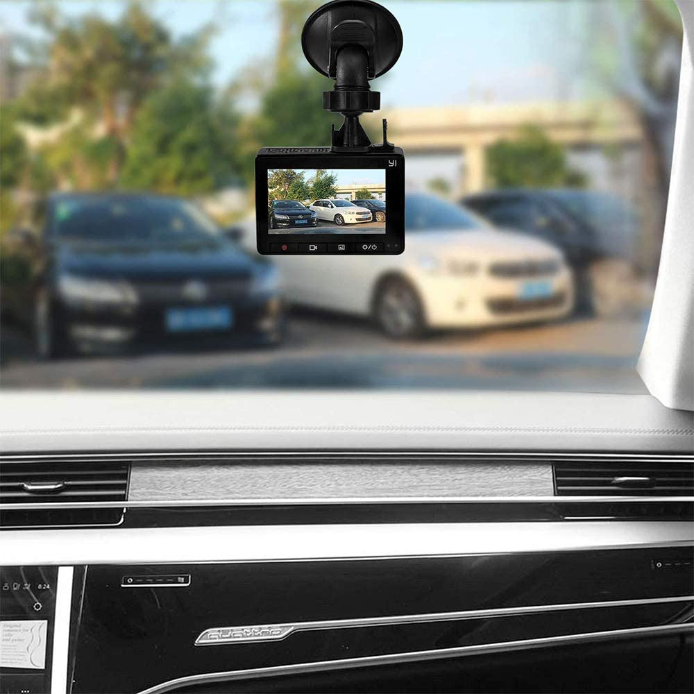 HPiano Dash Cam Suction Cup Mount for Dash Cam Come with 7 Different Joints Suitable for Dash Cameras 360 Degree Angle Car Mount Driving DVR Camera Camcorder GPS Action Cameras
