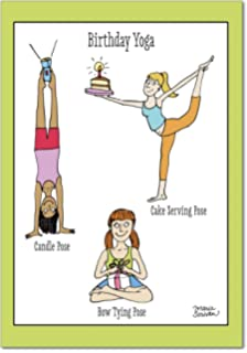 4397 Birthday Yoga Funny Card With Envelope