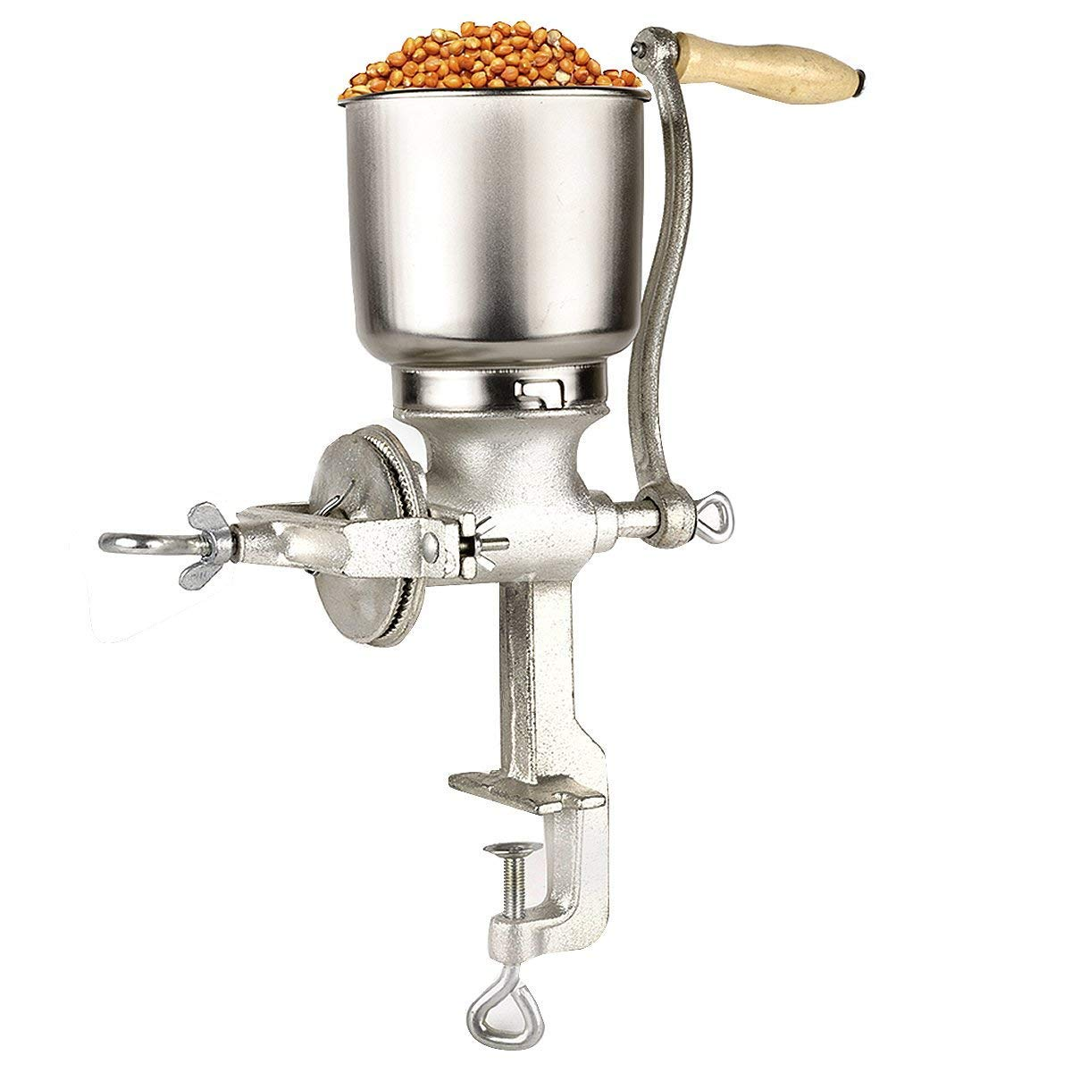 Molino De Maiz, Corn Grinder Manual Premium quality Cast Iron Spice with Table Clamp, Grain Hand Mill Flour Omaeon Om-500